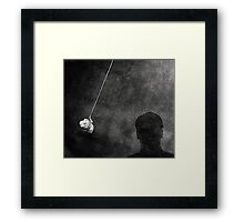 Back to the wall, looking at the future Framed Print