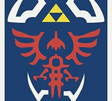 Zelda Triforce/Hylian Shield Design by brokenumbrella