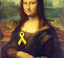 Mona Lisa With Yellow Ribbon by Mythos57