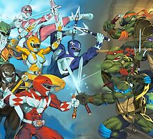 TMNT vs MMPR by jetibbetts