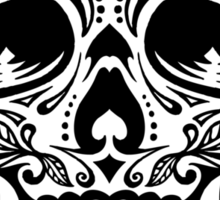 Sugar Skull Black Sticker