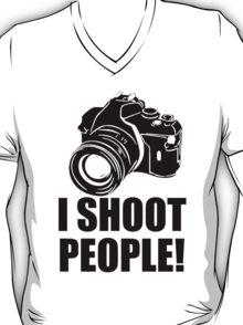 I Shoot People T-Shirt Funny Photographer TEE Camera Photography Digital Photo T-Shirt