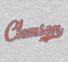 Clemson Orange Script VINTAGE by USAswagg2