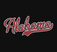 Alabama Script Red VINTAGE by USAswagg