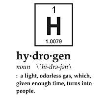 Anthropomorphic Definition of Hydrogen Photographic Print