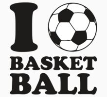 I Love Soccer Ball Basketball by TheShirtYurt
