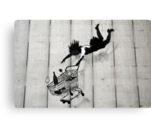 Shopping Trolley Girl Canvas Print