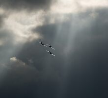 Sunlit Hawker Hurricanes by Gary Eason + Flight Artworks