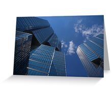 Oh So Blue - Downtown Toronto Skyscrapers Greeting Card