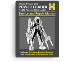 Power Loader Service and Repair Manual Canvas Print