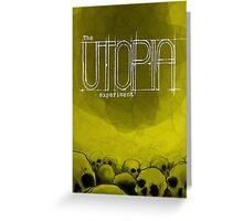 The Utopia Experiments Poster Greeting Card