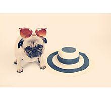 Pug's Summer Photographic Print
