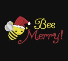 Bee Merry Christmas Holiday Bumblebee Santa  by awesomegift