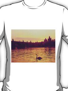 Swan, The Charles Bridge (Karlův Most) Prague, Kodachrome 64 T-Shirt