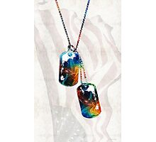Military Art Dog Tags - Honor - By Sharon Cummings Photographic Print