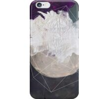 Abstract white volcano iPhone Case/Skin