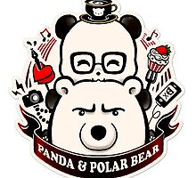 Panda And Polar Bear Badge by Panda And Polar Bear