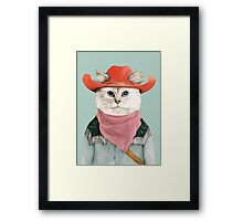 Rodeo Cat Framed Print