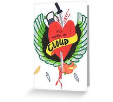 Heart Stabbed - Final Fantasy VII The Sacrifice Of Cloud - Name Banner 'CLOUD' Greeting Card