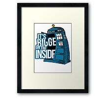 Its Bigger On The Inside Framed Print