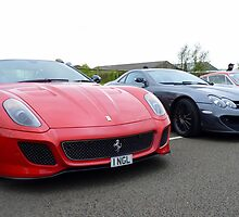 Ferrari 599 GTO and McLaren Mercedes SLR by Tom Gregory