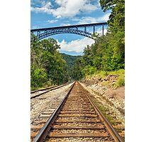 Railroad and Big Bridge Photographic Print