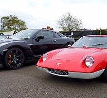 Lotus Europa vs Nissan GT-R by Tom Gregory