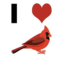 I heart Cardinals by Eggtooth