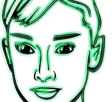 Audrey Hepburn Green by mrmorningglory