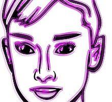 Audrey Hepburn Purple by mrmorningglory