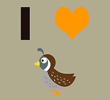 I heart Quails by Eggtooth