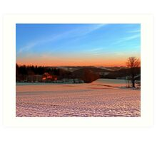 Colorful winter wonderland sundown III | landscape photography Art Print