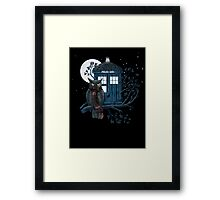 Owl And Tardis Framed Print