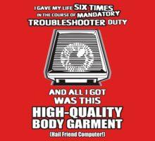 Mandatory Sentimental Veteran Troubleshooter Body Garment by TheCuckoo