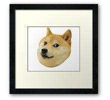 Doge Very Wow Much Dog Such Shiba Shibe Inu Framed Print