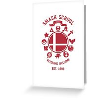 Smash School Veteran Class (Red) Greeting Card