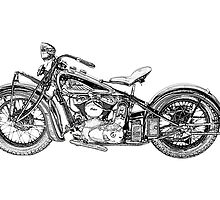 1937 Indian Chief Motorcycle by surgedesigns