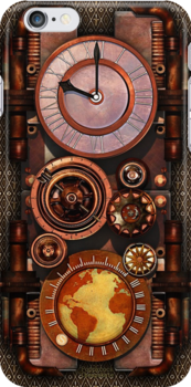 Infernal Steampunk Timepiece phone cases by Steve Crompton