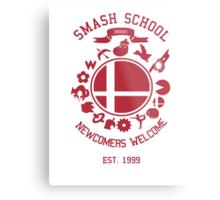 Smash School Newcomer (Red) Metal Print