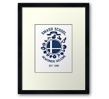 Smash School Newcomer (Blue) Framed Print