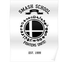 Smash School United (Black) Poster