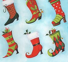 Christmas Boots by lizblackdowding