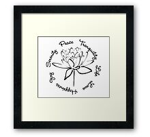 Serenity Tranquility Lotus (Black) Framed Print