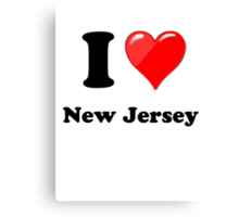 I Love New Jersey Canvas Print