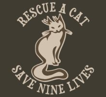 Rescue A Cat Save Nine Lives by TheShirtYurt