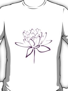 Lotus Flower Calligraphy (Purple) T-Shirt