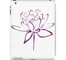 Lotus Flower Calligraphy (Purple) iPad Case/Skin