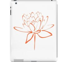 Lotus Flower Calligraphy (Orange) iPad Case/Skin