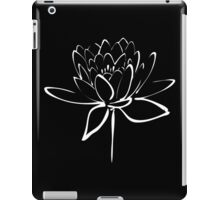 Lotus Flower Calligraphy (White) iPad Case/Skin