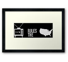 Television Rules The Nation (USA) (Dark Background) Framed Print